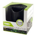 Fast Charging USB Car Storage Cup
