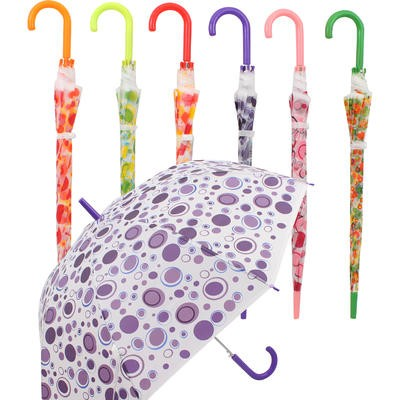 Clicks Automatic Umbrella with Hook Handle - Asst