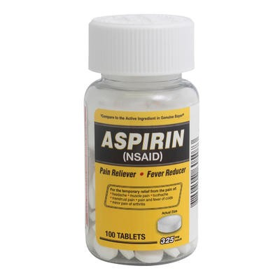 100-tablet Aspirin - 325mg