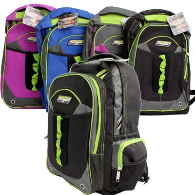 Pro-Sport Backpack with 2 Front Pockets - Asst  18