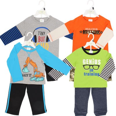 Baby Gear Boys' Pant 2-piece Set - Asst