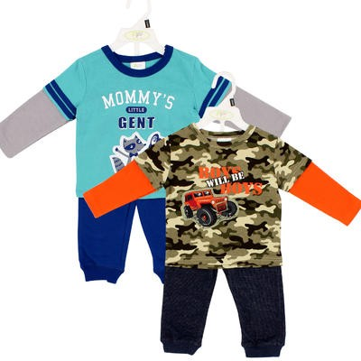 Infant Boys' T-Shirt and Pant 2-piece Set - Asst