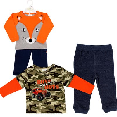 Baby Gear Infant Boys' Blue Pant Set - Asst