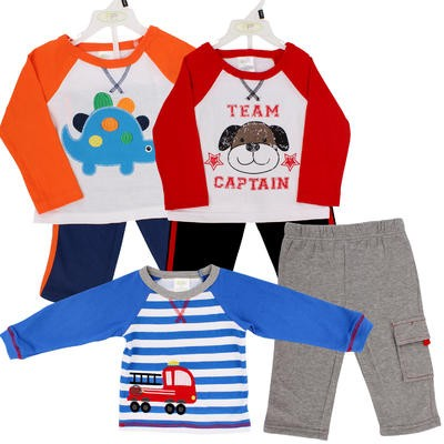 Baby Gear Infant Boys' T-Shirt and Pant Set - Asst