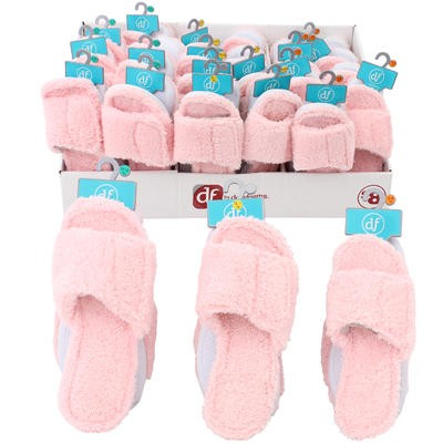 Dear Foams Ladies' Pink Open-toe Slippers - Asst