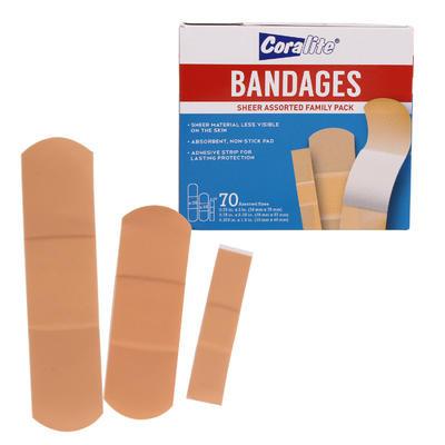 Coralite Bandage Sheer Family Pack - 70ct