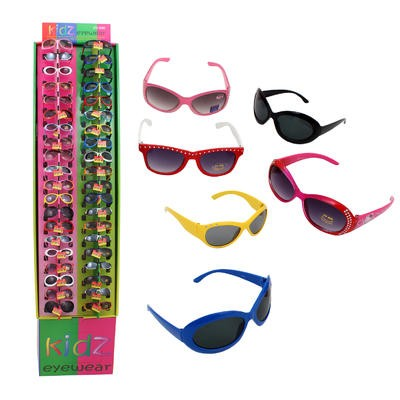Kids' Colored Sunglasses Display - Asst