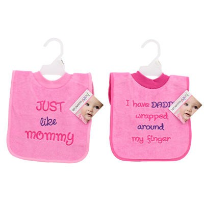 Baby Essentials Pull-Over Pink Bib - Asst
