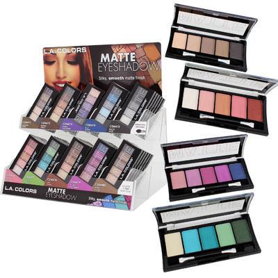 LA Colors Matte 5-pan Eye Shadow Display - Asst