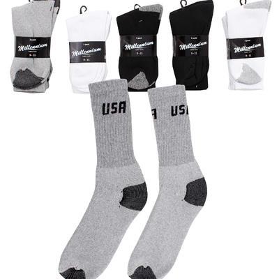 Millennium Men's Crew Socks 2-pack - Asst