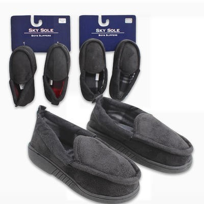 Boys' Suede Slippers - Assorted  Sizes 5-10