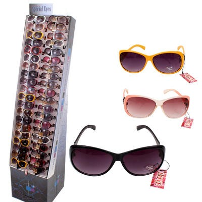 Fashionable Sunglasses on Floor Display - Assorted