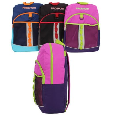 ProSport Backpack with Mesh Front Pocket-Asst  17