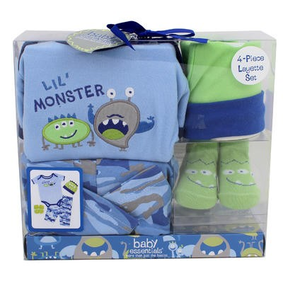 Lil Monster 4-piece Layette Set - 3-6mos