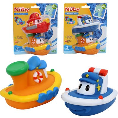 Nuby Bathtime Tub Tug Toy 2-pack - Asst