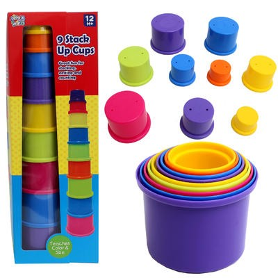 Stack Up Cups 9-piece Play Set - 12m+