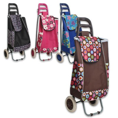 Shopping Bag w/Wheels - Assorted  37.5