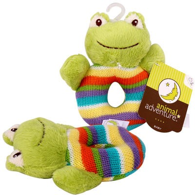 Animal Adventure Frog Knittyboo Rattle