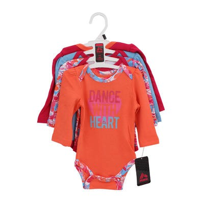 RBX Girls Newborn Dance Bodysuit 4-pack - Asst