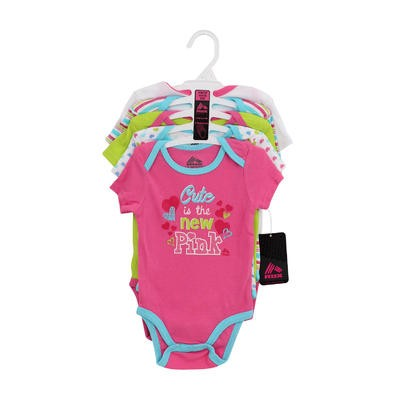 RBX Girls' Newborn Bodysuit 5-pack