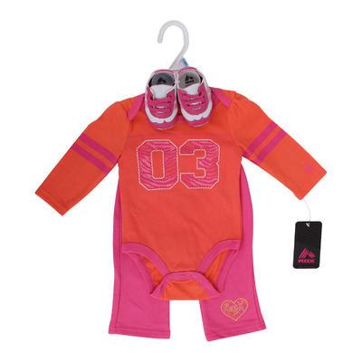 RBX Girls Newborn Coral Pant Set with Shoes - Asst