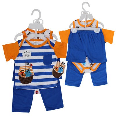 PANT/SHORT SET 4pc PIRATE BOYS
