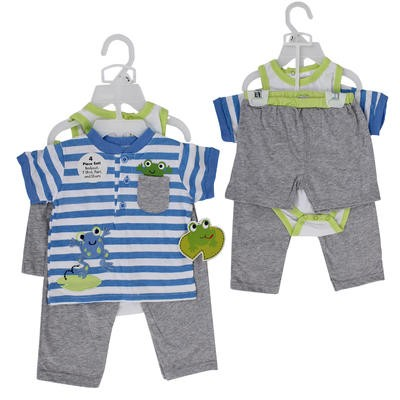 PANT/SHORT SET 4pc FROG BOYS