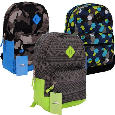 Backpack with Assorted Prints - Asst  17.5