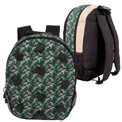 Green Digicamo Backpack with Spikes - 16
