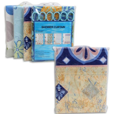 Shower Curtain with Hook Set - Assorted  71