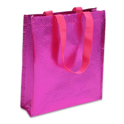 Pink Diamond Shopping Bag with Handles - 12.5
