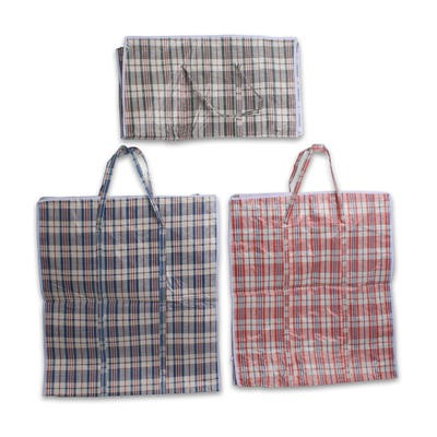 Extra Large Plaid Shopping Bag - Asst  29