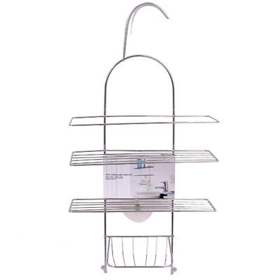 Steel 2-Tier Shower Caddy with Soap Dish - 19