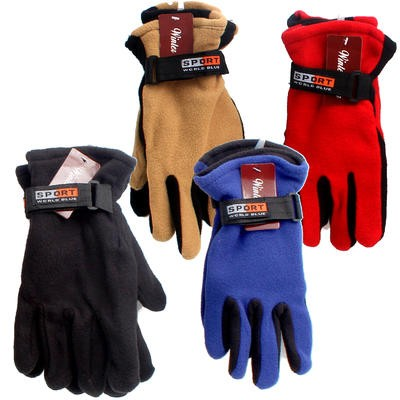 GLOVES ADULT FLEECE SPORT 6AST