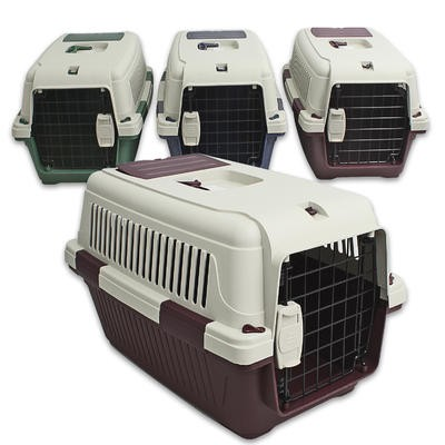 Plastic 2-Tone Deluxe Pet Carrier - 22.5
