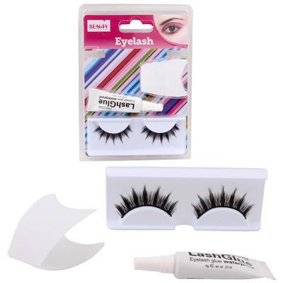 Beauty Essential Eyelash with Glue Pair - Black