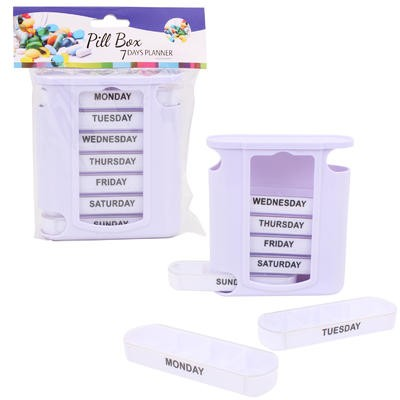 Pill Box 7-Day Planner in Holder