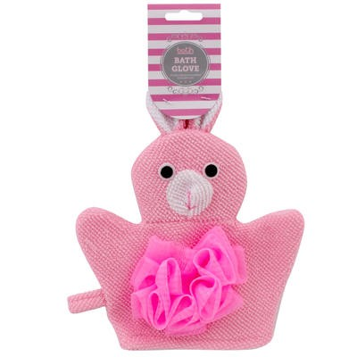 Pink Rabbit Shaped Bath Glove - 9