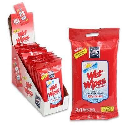 Lucky SuperSoft Wet Wipes 30ct Travel Pack