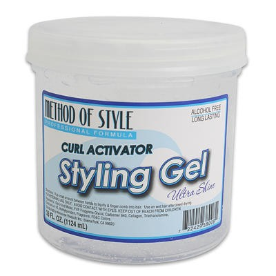 Method of Style of Curl Activator Styling Gel-38oz
