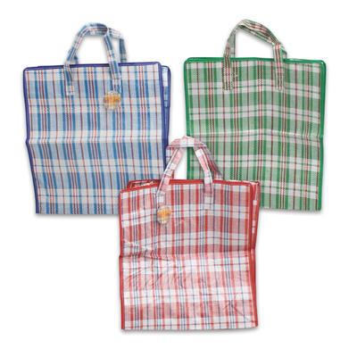 PP Shopping Bag w/Zipper - Assorted  17.75