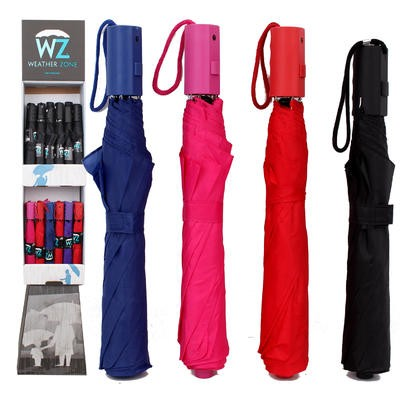 Automatic Solid Colored Umbrella - Asst  38
