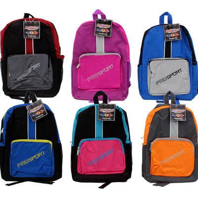 ProSport Backpack with Front Pocket - Asst  17