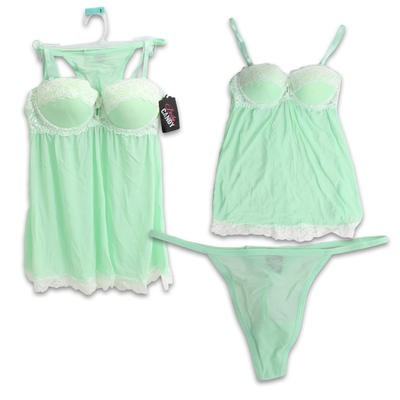 Body Candy Mint Cami and Thong Set - Assorted