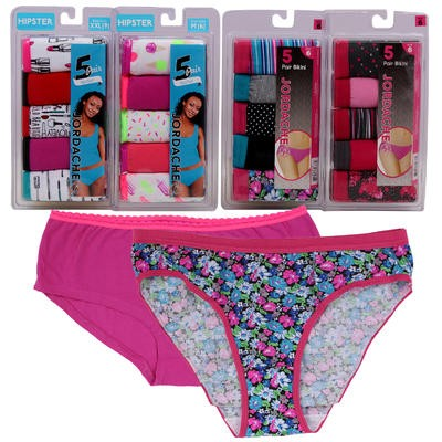 Ladies' Jordache Panties 5pk - Assorted