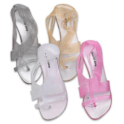 Ladies' Sandals with Glitter - Assorted Sizes 5-10