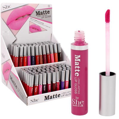 SHE Matte Lip Gloss Display - Asst