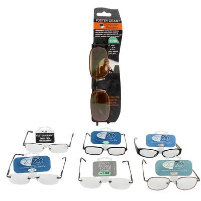 Foster Grant Lightweight Reading Glasses - Asst
