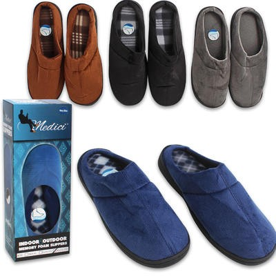 Men's Memory Foam Slippers - Asst