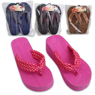 Women's High Wedge Flip Flops - Assorted
